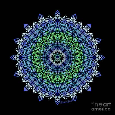 Digital Art - Tara's Tribal Turtle Mandala by Heather Schaefer