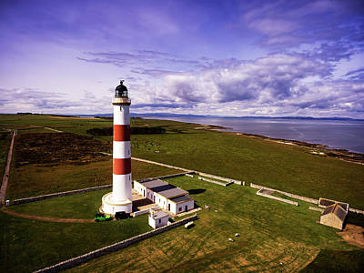 Photograph - Tarbat Ness Lighthouse by Ian Good