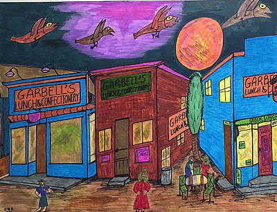 Food Stores Mixed Media - Garbell's Lunch And Confectionery by Jonathon Hansen