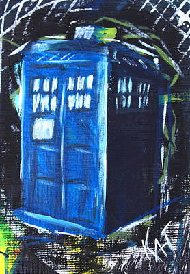Painting - Tardis Abstract by Kat Heckenbach