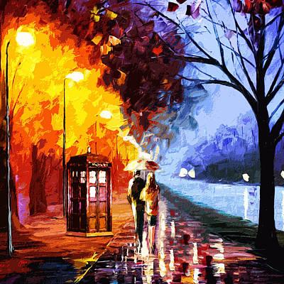 Tardis Painting - Tardis Starry Night Painting Art by Janis Marika