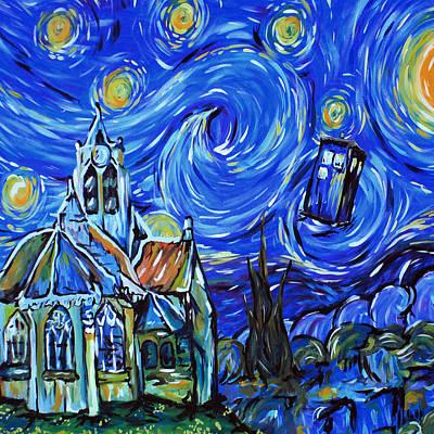 Fandom Painting - Tardis Doctor Who by Edi Suniarto