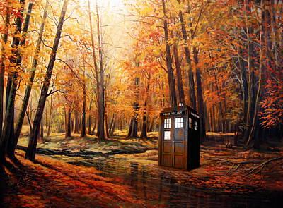 Dalek Painting - Tardis Doctor Who  by Koko Priyanto
