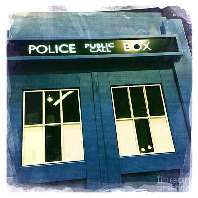 Tardis Dr Who Art Print