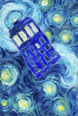 Painting - Tardis by Sebastian Pierre