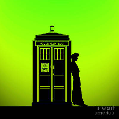 Tardis With The Tenth Doctor Art Print by Edi Suniarto