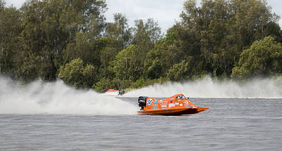 Photograph - Taree Race Boats 2015 02 by Kevin Chippindall