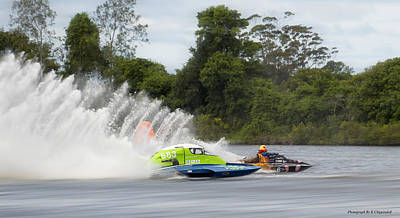 Photograph - Taree Race Boats 2015 06 by Kevin Chippindall