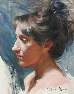 Life Model Painting - Tarena by Anna Rose Bain
