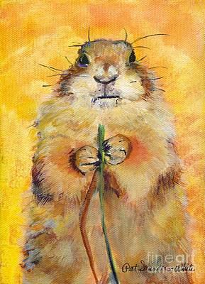 Rodent Wall Art - Painting - Target by Pat Saunders-White