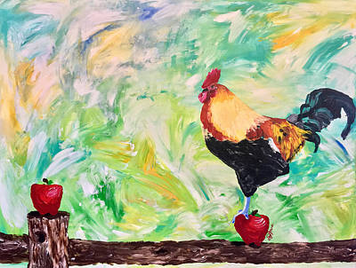 Painting - Target Practice, Part 4 Of Series, Chicken by Sarah LaRose Kane