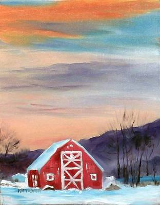 Painting - Target Range Barn by Larry Hamilton