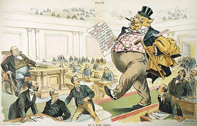 Tariff Lobbyist, 1897 Print by Granger