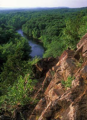 Photograph - Tariffville Gorge Farmington River by John Burk