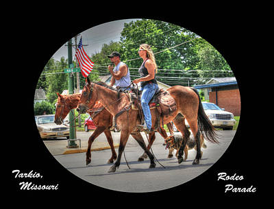 Photograph - Tarkio Rodeo Parade by J Laughlin