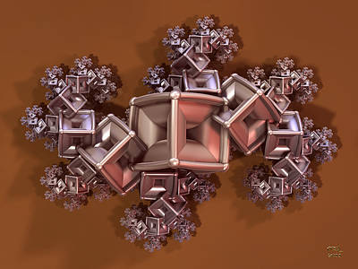 Digital Art - Tarnished Marcasite Fractal by Manny Lorenzo