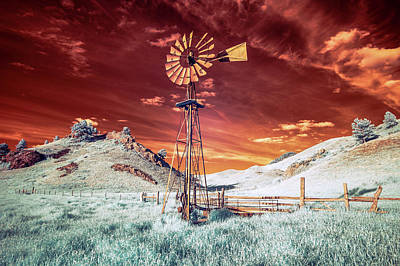 Photograph - Tarnished Windmill by Todd Klassy