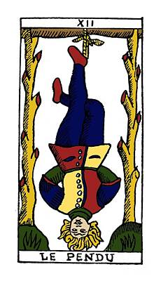 Photograph - Tarot Card The Hanged Man by Granger