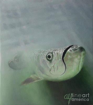 Painting - Tarpon by Alan Feldmesser