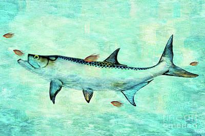 Tarpon And Gold Fish Art Print