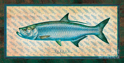 Painting - Tarpon by Jon Q Wright
