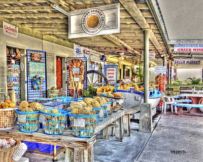 Photograph - Tarpon Springs Florida Sponge Market by Rebecca Korpita