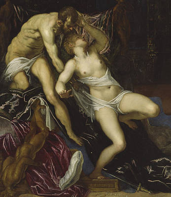 Tarquin And Lucretia Art Print by Tintoretto