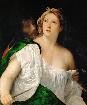 Titian Painting - Tarquin And Lucretia by Titian