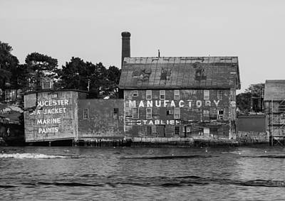 Photograph - Tarr And Wonson Paint Manufactory In Black And White by Brian MacLean