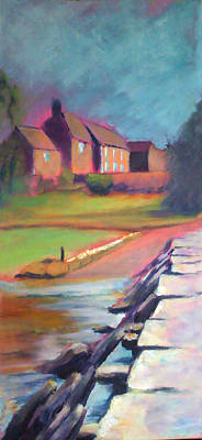 Wall Art - Painting - Tarr Steps Devon by Alison Stafford