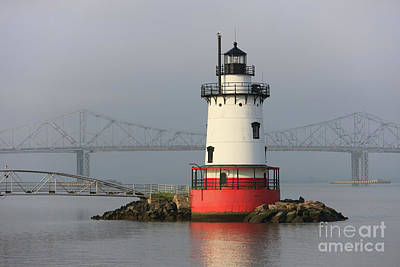 Photograph - Tarrytown Lighthouse And Tappan Zee Bridge II by Clarence Holmes
