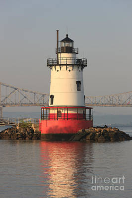 Photograph - Tarrytown Lighthouse And Tappan Zee Bridge V by Clarence Holmes
