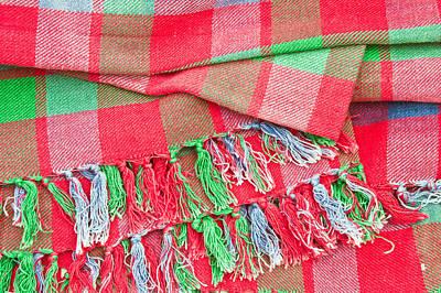 Tartan Blanket Art Print by Tom Gowanlock