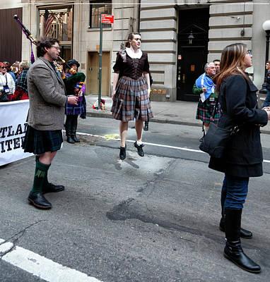 Rabbit Marcus The Great - Tartan Day Parade NYC 2018 Female Dancer by Robert Ullmann
