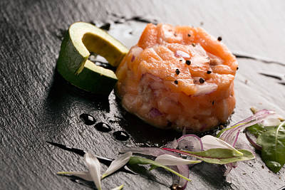 Oni Photograph - Tartare With Salmon And Onion 2 by Vadim Goodwill