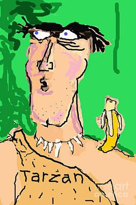 Whimsical Drawings Photograph - Tarzan Sees Jane by Joe Jake Pratt