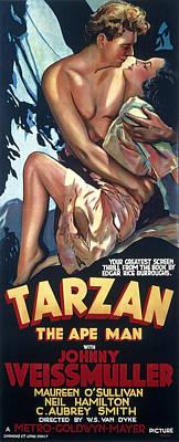Tarzan The Ape Man Lobby Promotion 1932 Art Print by Daniel Hagerman