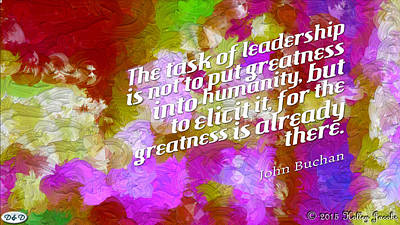Digital Art - Task Of Leadership by Holley Jacobs
