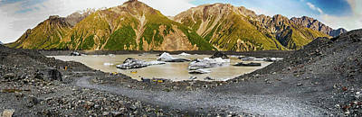 Photograph - Tasman Glacier Lake Nz 2 by C H Apperson