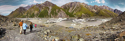 Photograph - Tasman Glacier Lake Nz by C H Apperson