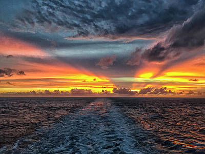 Photograph - Tasman Sea Sunset by Bill Barber