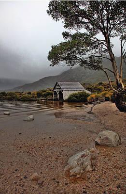 Photograph - Tasmania Boat Shed by Jack Nevitt