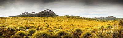 Winter Scenery Photograph - Tasmania Mountains Of The East-west Great Divide  by Jorgo Photography - Wall Art Gallery