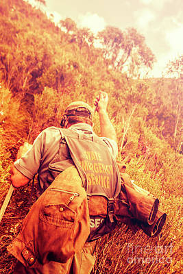 Exercise Photograph - Tasmania Search And Rescue Ses Volunteer  by Jorgo Photography - Wall Art Gallery