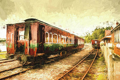 Tasmania West Coast Wilderness Train Art Art Print