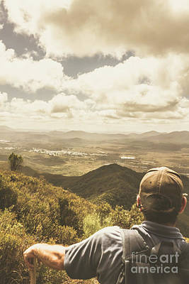 Mans Hat Photograph - Tasmanian Hiking View by Jorgo Photography - Wall Art Gallery