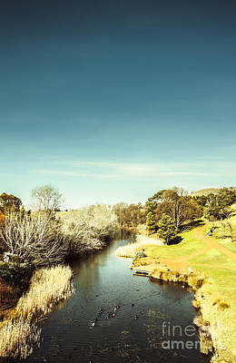 River View Photograph - Tasmanian River Landscapes by Jorgo Photography - Wall Art Gallery