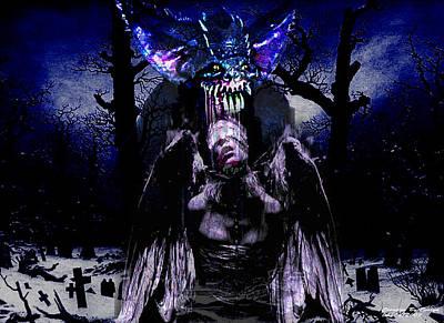 Graveyard Digital Art - Taste Of Blood by Evelyn Patrick