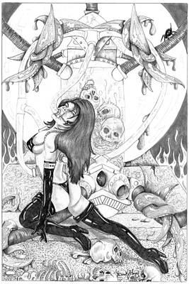 Taste Of Death Art Print by Derek Hayes