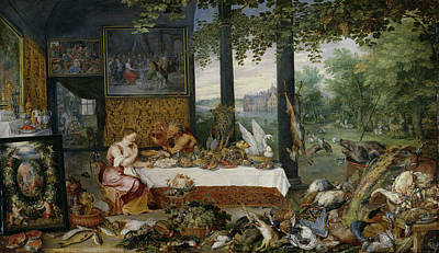 Seafood Painting - Taste by Peter Paul Rubens